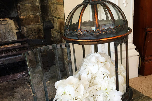 Charlotte Speculo Floral Designer Lantern Wedding Flower Arrangement Essex