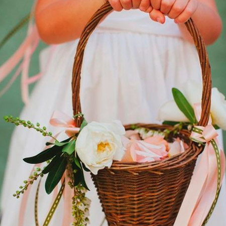 Flower Girl Posey or Basket