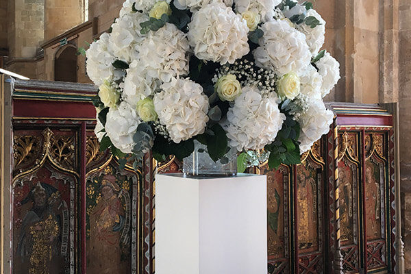 Pedestal Flower Arrangement Essex