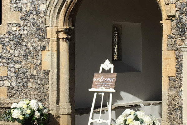 Venue Entrance Flowers Essex